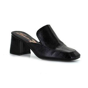 Seven 7 Meghan Slip On Black Block Heel Pumps Sz 6